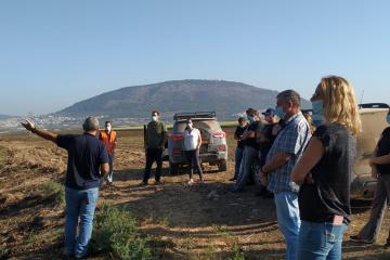 ראש המועצה, אייל בצר, מקדם תוכניות לפיתוח השטחים הפתוחים, בשיתוף קהילות האשכול המזרחי