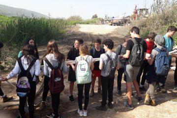 תלמידי כיתות ט' מהרב תחומי עמק חרוד יצאו לפעילויות חווייתיות בנחל חרוד המשוקם