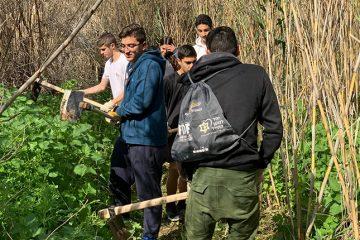 פורצי דרך: תלמידי גאון הירדן ביצעו עבודות פריצה ושימור לאורך שביל עמק המעיינות
